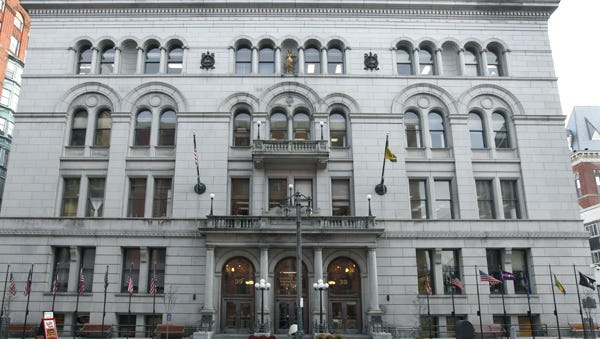 The county building in downtown Rochester.