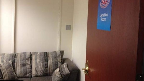 The new lactation room at Rochester City Hall.