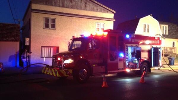 Fire crews are on scene at the structure fire at 932 S. Dakota Avenue.