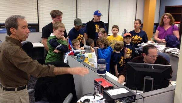Cub Scout Pack 46 from Sloatsburg/Tuxedo visited the Rockland office of The Journal News on Monday.