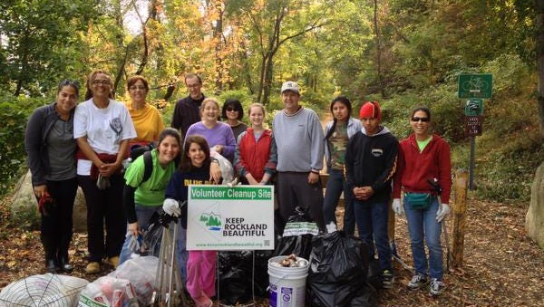 Volunteers from Keep Rockland Beautiful helped with Fall Waterways Clean up