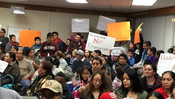 East Ramapo students and parents crowded a meeting Tuesday for the fourth protest against the superintendent's comments about the Latino community.