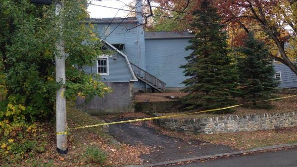 Grandview Avenue in Pleasantville was closed Saturday as police investigated the stabbing death of a 76-year-old woman.