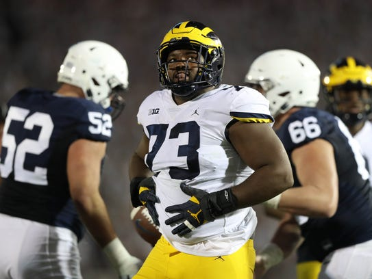 DT Maurice Hurst, Michigan: With the 20th pick of the
