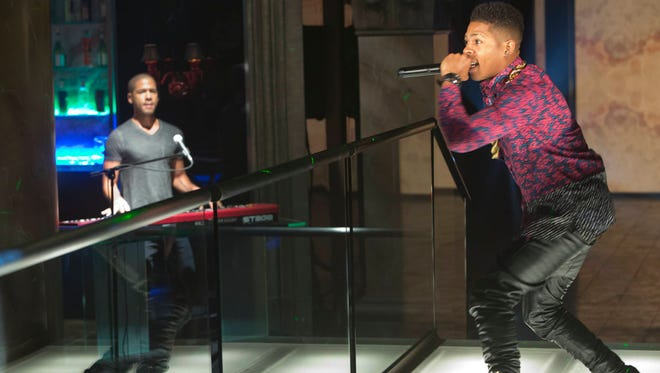 Hakeem (Bryshere Gray, right) and Jamal (Jussie Smollett) perform in last week's Empire. Looking ahead, viewers of the show will see higher production values to accompany the original songs, reflecting the artists' rise to fame.
