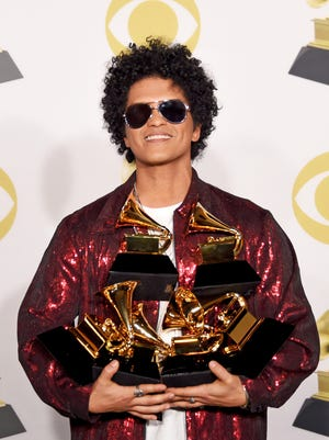 Bruno Mars took home seven awards at this year's Grammy's, beating out some serious competition, this feat proves that the Grammys are out of touch.