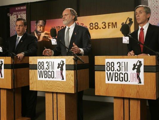 Chris Christie, Jon S. Corzine, Chris Daggett