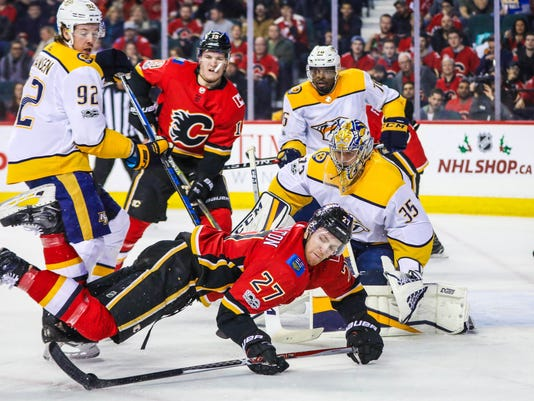 NHL: Nashville Predators at Calgary Flames