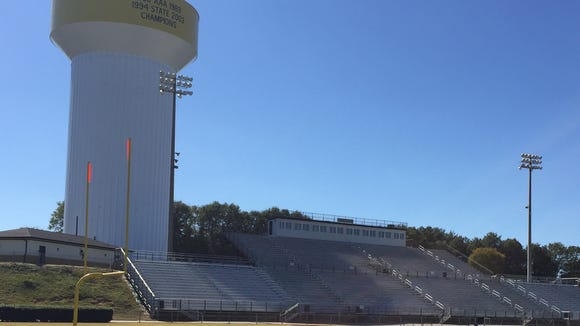 Dooley Field has been Greer's home since 1986. The water tower, which serves as a backdrop, indicates state titles won in 1956, 1989, 1994 and 2003.