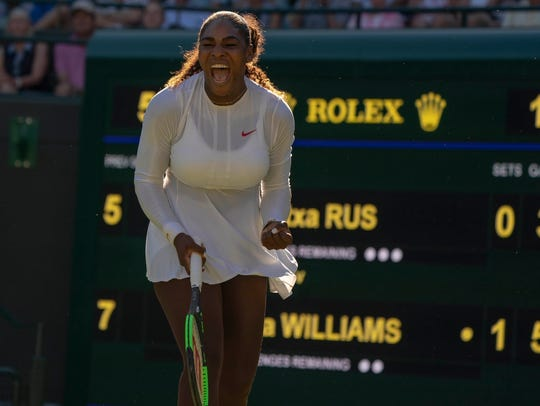 Serena Williams of the USA opens with a victory Monday