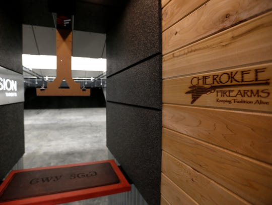 A shooting lane inside the new Cherokee Firearms store