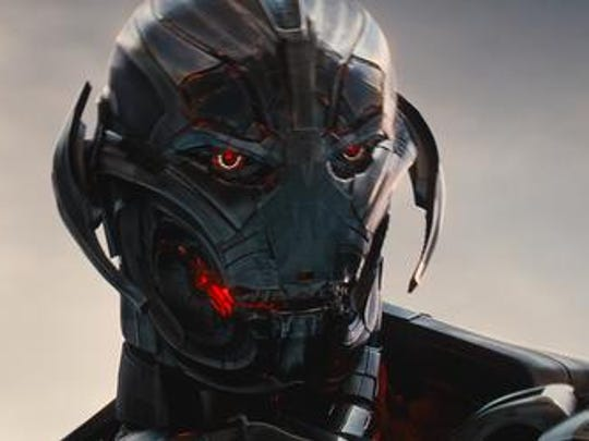 """Ultron (voiced by James Spader) in a scene from  """"Avengers:"""
