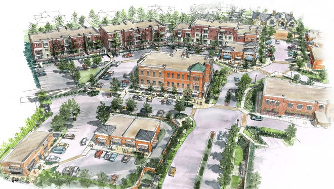Here's a rendering of a mixed-use project featuring luxury condominiums that a developer wants to build in Montgomery.