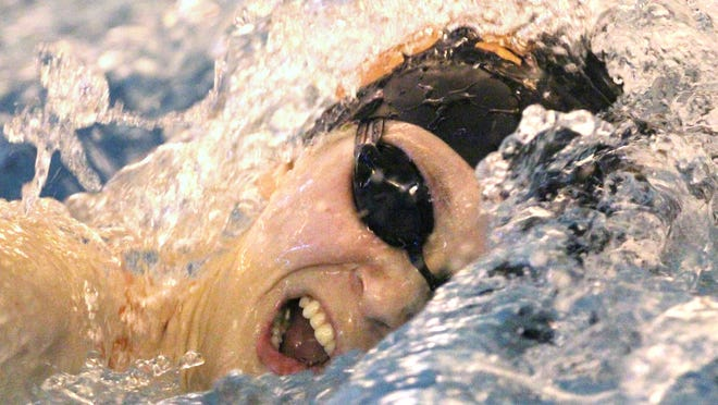 Taylor Seaman of Brighton set four Livingston County records in the 2016 state Division 1 swimming and diving meet.