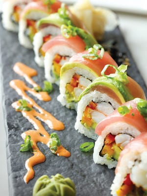 "Sushi comes in a dozen à la carte varieties and several ""chef's choice"" plates."