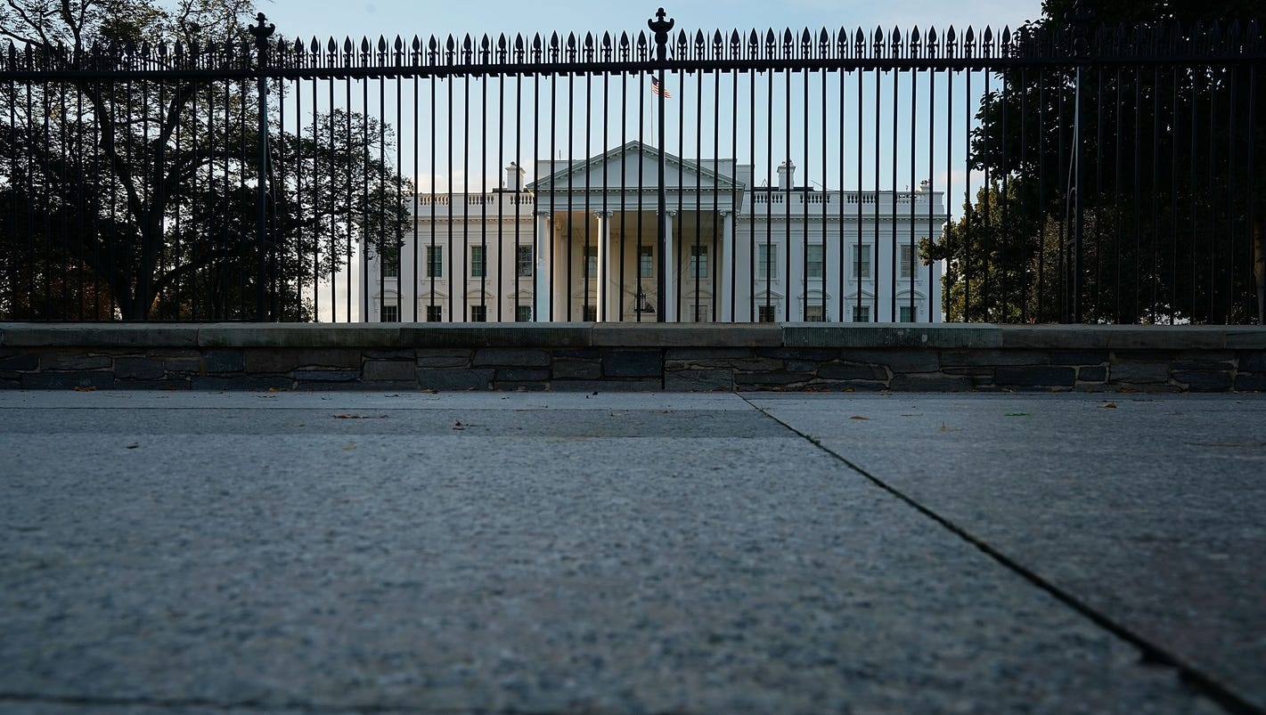 White house placed on lockdown one person detained by for Single person house