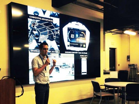 Sebastien Mahut, CEO of Manta Motors, pitches his company