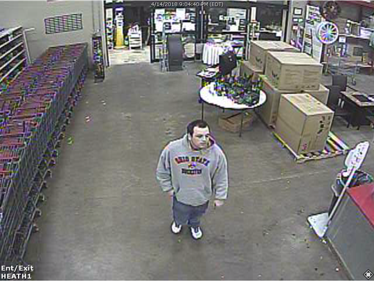 Heath Police are seeking to identify this man, seen