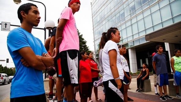 31 runners from the Lakota and Dakota youth stopped