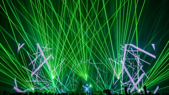 Jean-Michel Jarre intergrates electronic music and