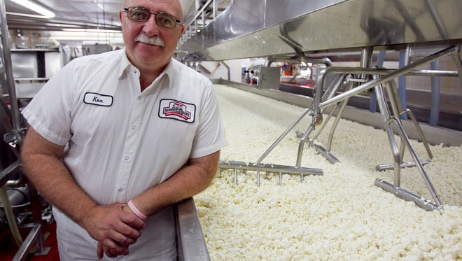 Ken Heiman, owner of Nasonville Dairy, stands next to a cheese vat at Nasonville Dairy in Marshfield in 2013. This nearby dairy offers fresh curds.