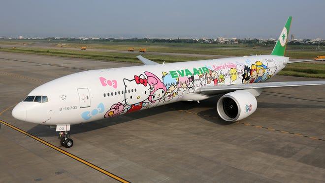 "EVA Air's Hello Kitty ""Hand-in-Hand"" jet."