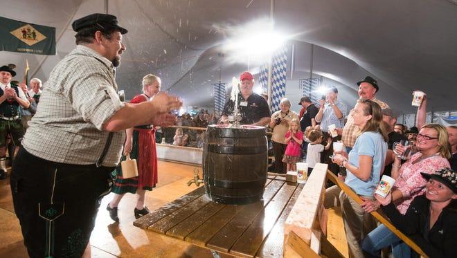 Delaware Saengerbund Oktoberfest begins at 5 p.m. Friday and runs through Sunday.