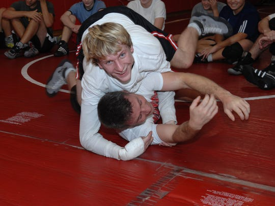 In this 2008 photo, Northern Highlands wrestler Dan