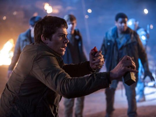 "Dylan O'Brien stars in ""Maze Runner: The Scorch Trials."""