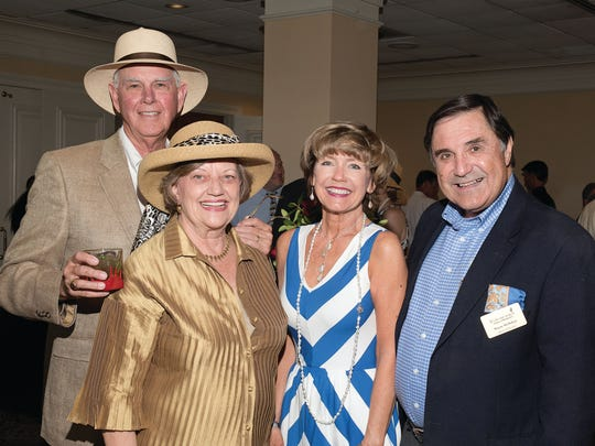Enjoying the Derby Party for Hospice of Montgomery were, from left, Larry and Gaynell  Dixon, and Sue Ann and Wayne McMahan (Courtesy of Patricia White Photography)