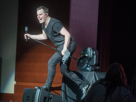 Marc Martel sings as the Black Jacket Symphony presented
