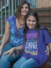 Samantha Buggle with her mom Janine Buggle.