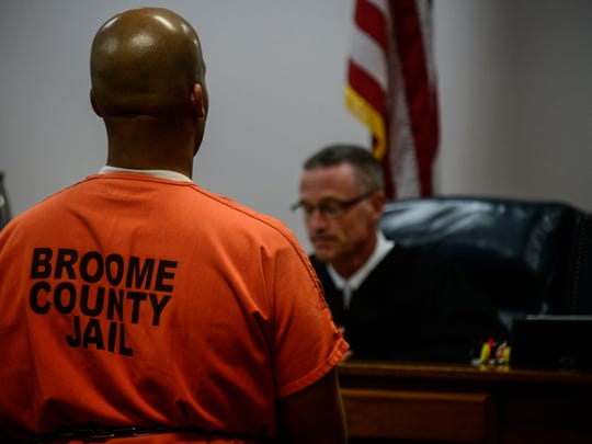 """On Sept. 3, 2014, Judge Joseph Cawley said to Aaron Powell, who was found guilty on felony counts of first-degree murder and two counts of second-degree murder, """"You are a cold-blooded killer,"""" before handing down a sentence of life without parole at the Broome County Family and County Courts. Powell was found guilty on July 24, 2014, for the murders of his estrange wife Christina Powell, 35, and her friend Mario Masciarelli, 24."""