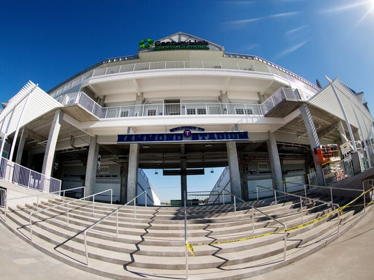 Hammond Stadium at Century Link Sports Complex offers a new entrance to the seating area.