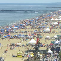 Fields of sand for the annual soccer tournament at the Va. Beach Oceanfront