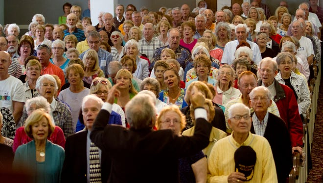The 26th annual Mrs. Edison's Hymn Sing was held at the First Presbyterian Church in Fort Myers on Tuesday 2/10/2015. Hundreds attended the three performances that benefits the Soup Kitchen of CCMI.