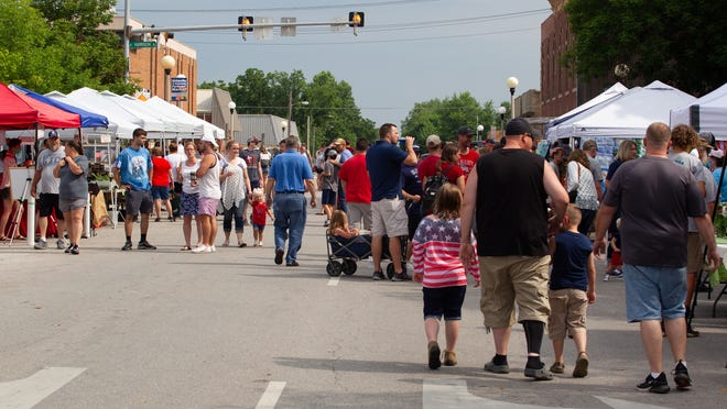 Daily Express file photo from downtown Kirksville during the Red, White and Blue Festival. By NEMO Photography