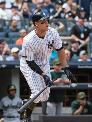 Aaron Judge leads the AL with 17 home runs.