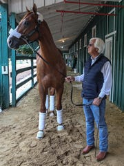 Trainer Bob Baffert leads Preakness and Kentucky Derby