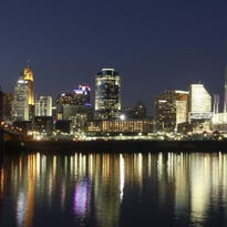 A shot of the Cincinnati skyline