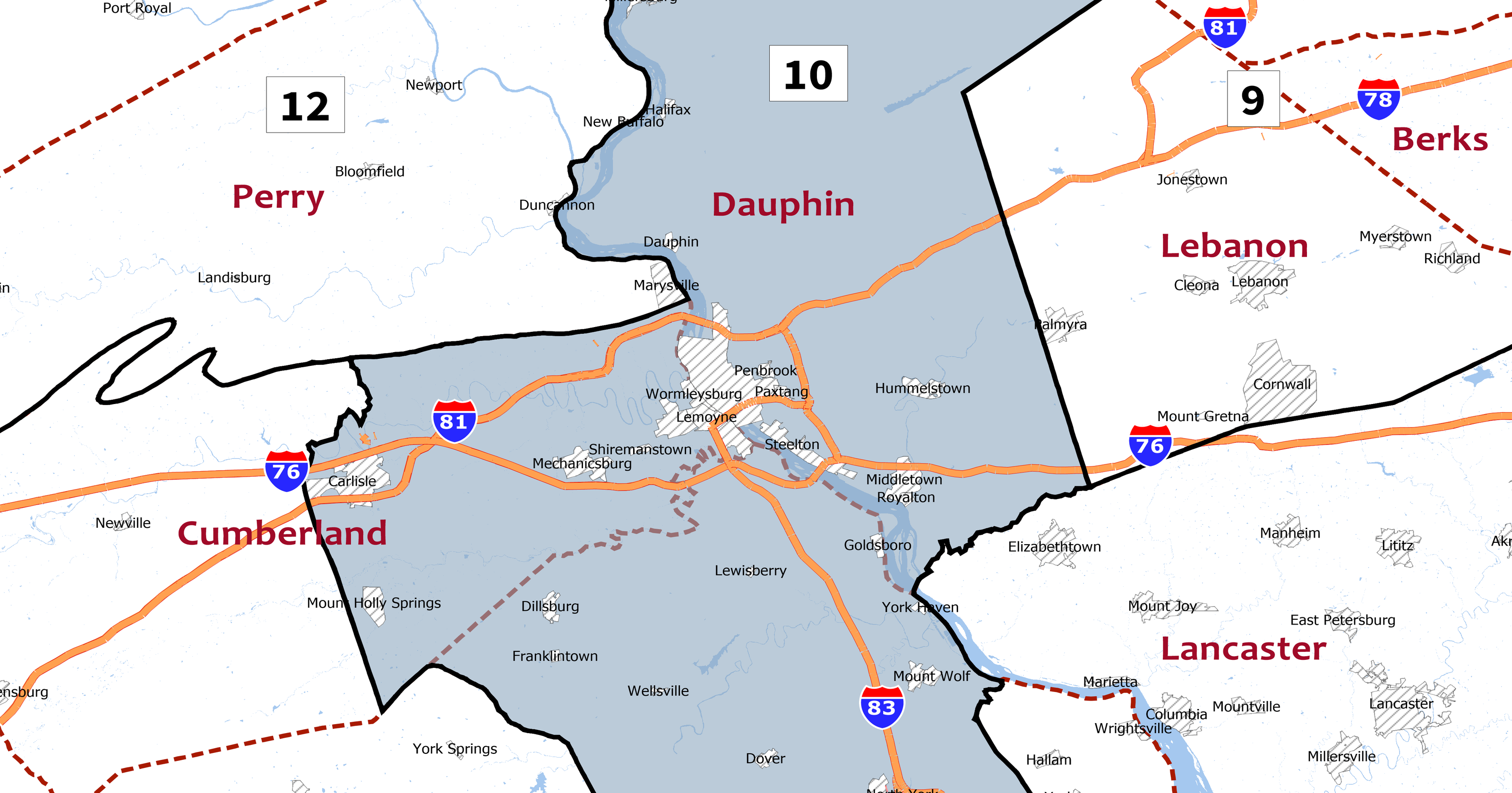 Map Of New York 19th Congressional District.Pa 2018 Election Who Is Running For The 10th Congressional District