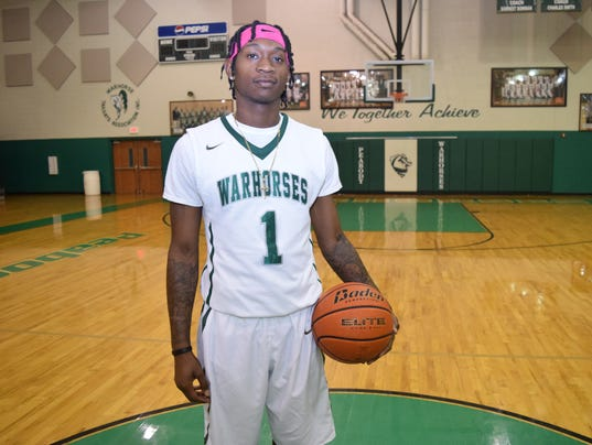 Peabody Magnet High School basketball player Cedric Russell Jr. was chosen as the All-Cenla Player of the Year.