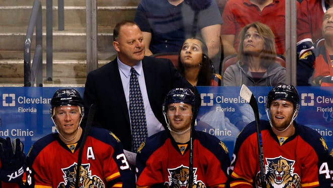 Coach Gerard Gallant has led the Florida Panthers to a 59-41-19 record in his season-plus behind the bench.