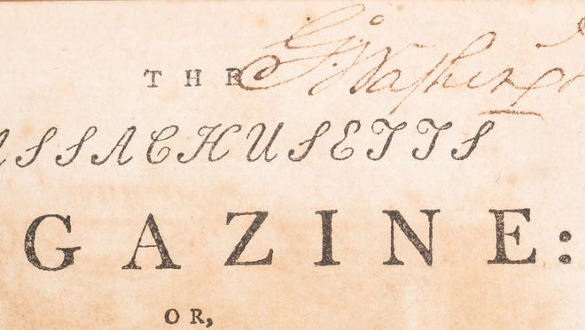 This 1789 book signed and owned by George Washington was auctioned in Knoxville. Washington gave the book to Chief Justice John Marshall. It was passed to generations of Marshall's family and is from the estate of a descendant who lived in Chattanooga.