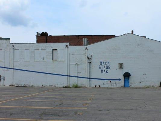 Downtown Muncie mural space