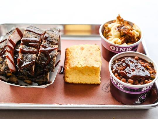 Ribs from Oink and Moo BBQ.