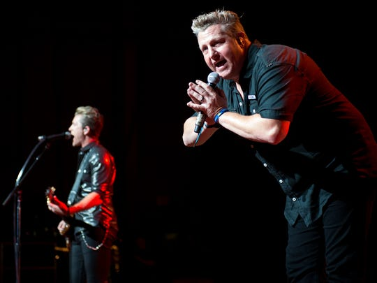 Rascal Flatts performing at Riverbend Music Center.