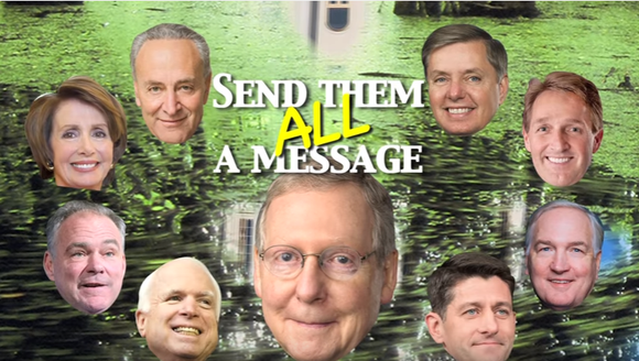 In this still from an ad from Roy Moore's U.S. Senate