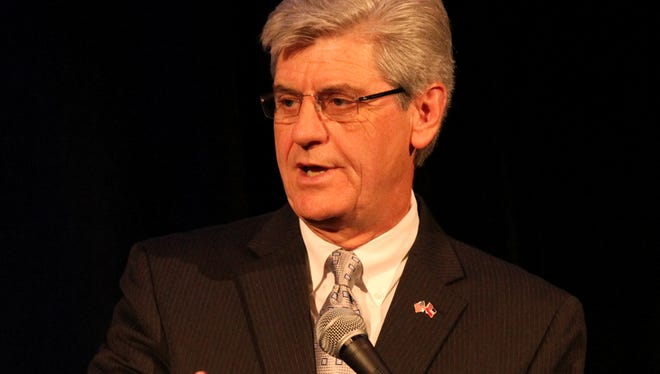 Gov. Phil Bryant's Mississippi Works Tour stopped Greenwood Monday. Bryant, seen here in Hattiesburg in July, touted the Delta as a key component of the Southern automotive manufacturing corridor.