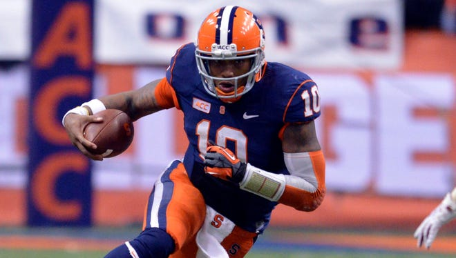 Between his line and his improving receivers, the pieces are in place for Syracuse quarterback Terrel Hunt to take a step forward in 2014.